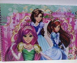 Caderno de desenho capa dura - Beautiful Princess