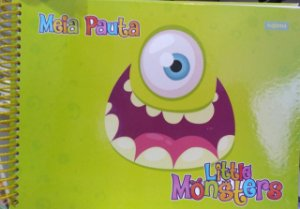 Caderno meio pauta - Litte Monsters