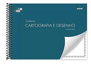 Caderno de desenho e cartografia 96fls capa dura milimetrado