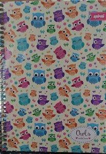 Caderno capa dura Corujinhas -  96 folhas