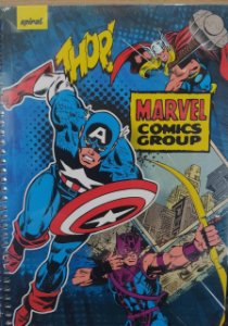 Caderno capa dura  universal Marvel Comic Groups -  96 folhas