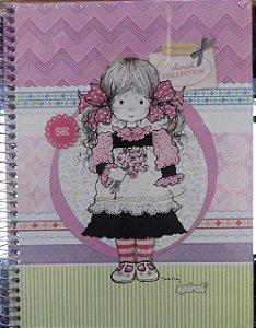Caderno capa dura  universal Sarah Kay -  96 folhas