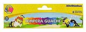 Tempera guache 15ml com 6 cores - acrilex
