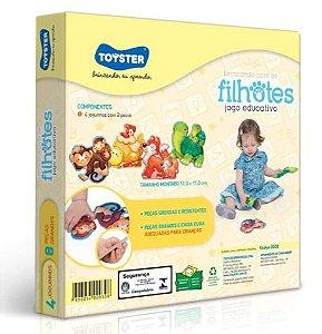 Jogo Brincando com os Filhotes - Toyster Brinquedos