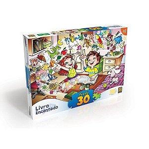 Quebra-cabeça 30 peças Livro Encantado