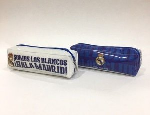 Estojo simples retangular Real Madrid bicolor