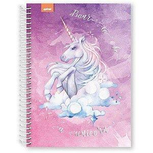 Caderno Universitário Capa Dura 96 fls Born to be Unicorn