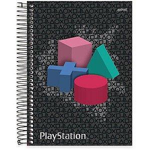 Caderno Universitário Capa Dura 10 matérias (200 fls) PlayStation SPIRAL