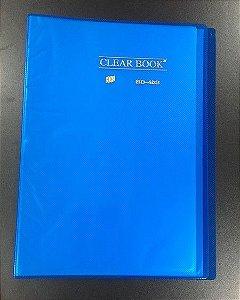 Pasta Catálogo Clearbook Yes com 40 envelopes plásticos - azul