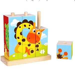 Quebra Cabeça em Blocos - Animais - Tooky Toy