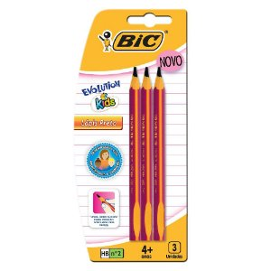 LÁPIS GRAFITE EVOLUTION KIDS C/3 - BIC