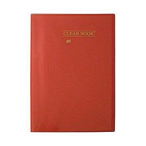Pasta Catálogo Clearbook Yes com 50 envelopes plásticos - vermelho