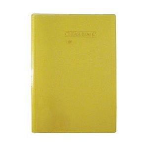 Pasta Catálogo Clearbook Yes com 50 envelopes plásticos - amarelo