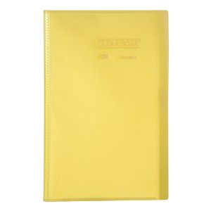 Pasta Catálogo Clearbook Yes com 40 envelopes plásticos - amarelo