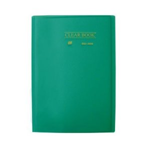 Pasta Catálogo Clearbook Yes com 30 envelopes plásticos - verde