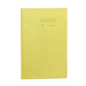 Pasta Catálogo Clearbook Yes com 20 envelopes plásticos - amarelo