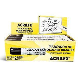 MARCADOR PERMANENTE PRETO ACRILEX