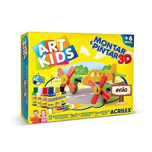 MONTAR E PINTAR 3D AVIÃO ACRILEX