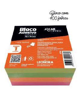 BLOCO ADESIVO AMARELO 76MMX76MM JOCAR OFFICE