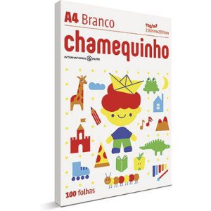 Papel Sulfite Chamequinho A4 75g - BRANCO - pacote 100 fls