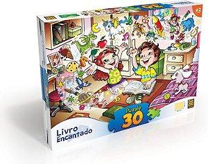 Quebra Cabeça 30 Peças Livro Encantado