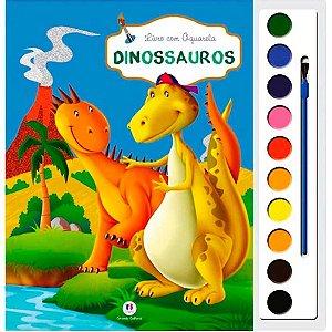 Livro com aquarela - Dinossauros