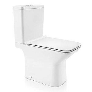 Docol Bacia Stillo com Caixa Acoplada Branco + Assento + Acessórios de Fixação Cromados