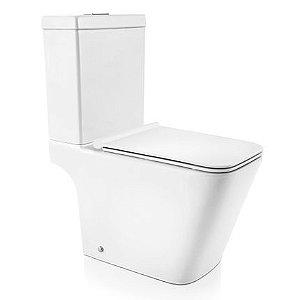 Docol Bacia Vougan com Caixa Acoplada Branco + Assento + Acessórios de Fixação Cromados