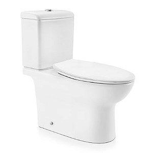 Docol Bacia Lóggica com Caixa Acoplada Branco + Assento + Acessórios de Fixação Cromados