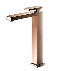 Torneira para banheiro bica alta New Edge cobre polido
