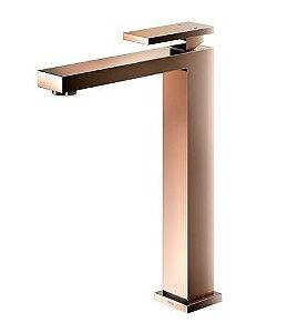Monocomando para banheiro bica alta New Edge cobre polido
