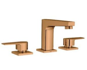 Misturador Deca D.Coat Mesa Bica Baixa Level Red Gold
