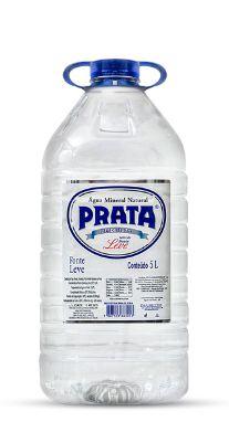 Galão de 5lts litros Água Mineral Prata descartável (pcte com 2 unid.)