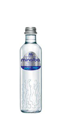 Água Mineral Minalba Premium Sem Gás Vidro 300ml (cx 12 garrafas)
