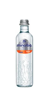 Água Mineral Minalba Premium Com Gás Vidro 300ml (Cx 12 garrafas)