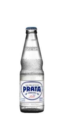 Água Mineral Prata Natural Vidro 300ml Descartável (Pacote/fardos 12 garrafas)