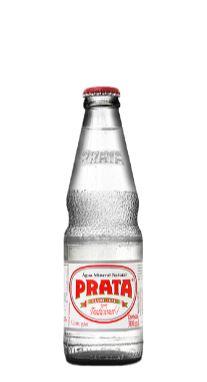 Água Mineral Prata com Gás Vidro 300ml Descartável (Pacote/fardos 12 garrafas)