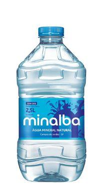 Água Mineral Minalba sem Gás 2,5L Pet (Pacote/Fardo 03 garrafas)