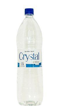 Água Mineral Crystal Premium Sem Gás 1,5L Pet (Pacote/Fardo 06 garrafas)