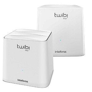 Kit Roteador Twibi Giga Intelbras Wifi Mesh Giga 2,4 E 5 Ghz Voltagem:110V/220V (Bivolt);Cor:Branco