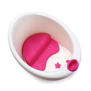 Banheira Bubbles Safety 1St Branco e Rosa