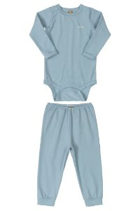 Pijama Body e Calça Malha Energy Thermo Azul Up Baby