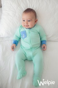 Macacão Verde Menta Bolso Jeans Welpie