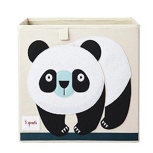 Cesto Organizador Quadrado Panda 3 Sprouts