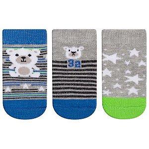 Meia Fun Socks Bebê 3 pares Coala Winston