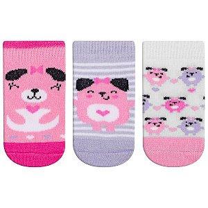 Meia Fun Socks Bebê 3 pares Dog Winston