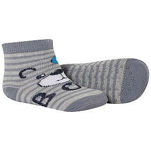 Meia Comfort Socks Antiderrapante Masculino Cinza Winston