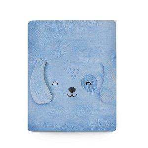 Cobertor Microfibra1,10M X 85CM Azul - Mami Bichuuus