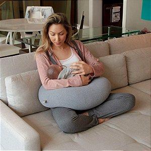 Almofada de Amamentação Cinza Mescla - Infanti
