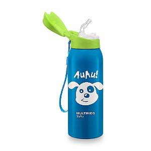 Copo Térmico com Canudo Keep It Cool 350ml Azul Multikids